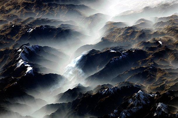 Вид из космоса на Анды