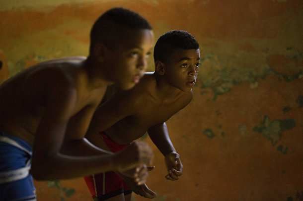 Тренировка по рестлингу в Гаване