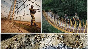 Линия контроля на границе Индии и Пакистана