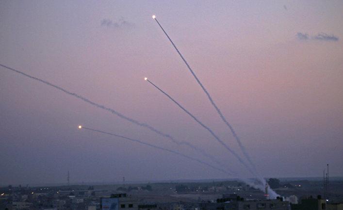 Пуск ракет из сектора Газа в сторону Израиля. 12 ноября 2018