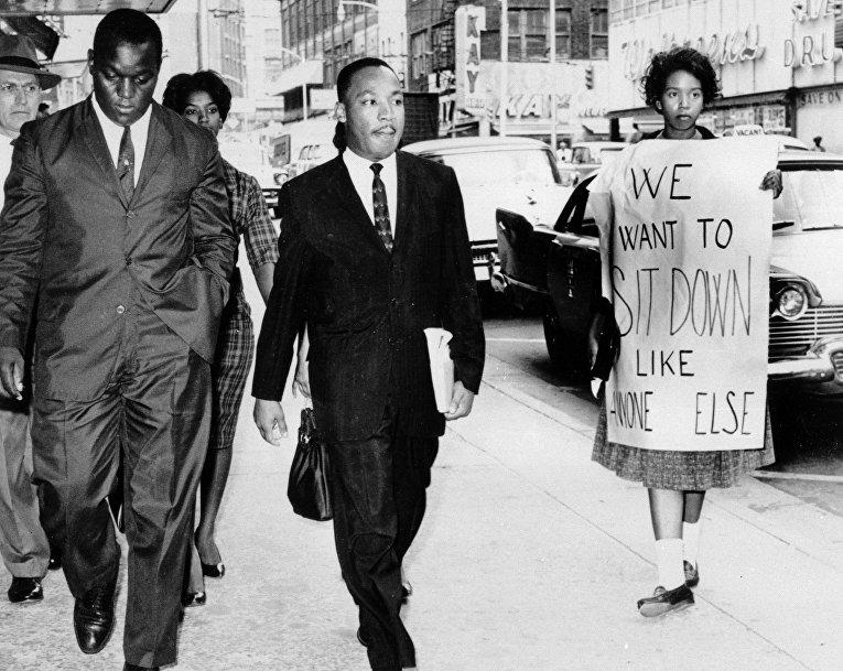 Мартин Лютер Кинг и Лонни Кинг