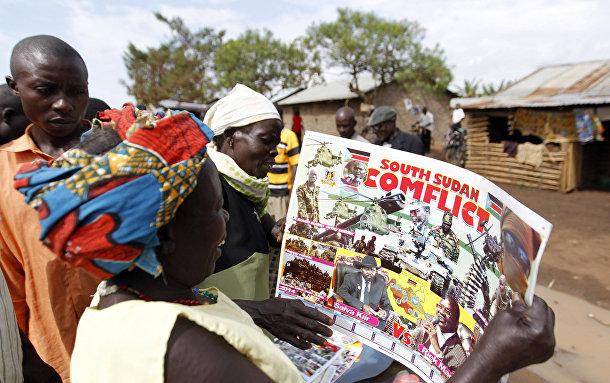 Лагерь беженцев из Южного Судана в Уганде