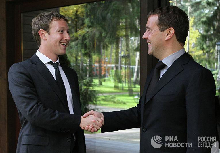 Д.Медведев встретился с М.Цукербергом