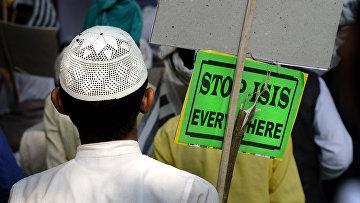 Акция протеста против ИГИЛ (Запрещена в РФ) в Нью-Дели