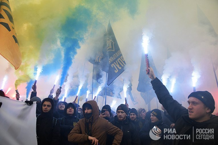 Акции националистов в Киеве