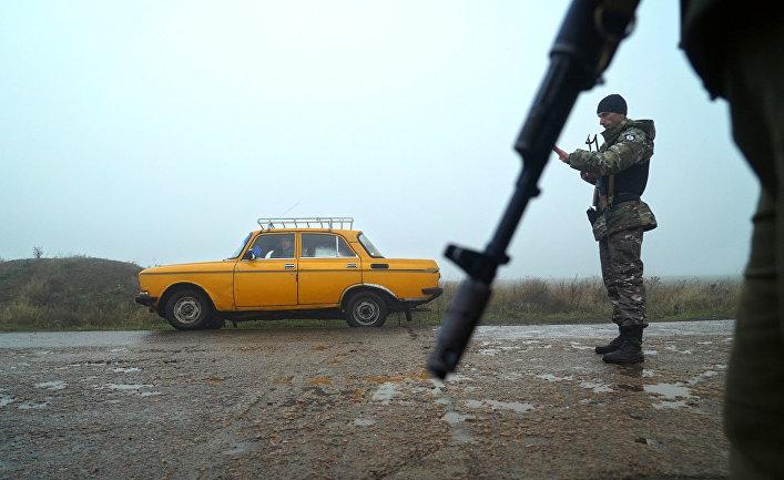 Контрольно-пропускной пункт в Бердянске