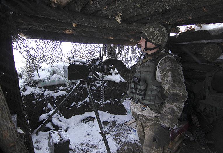 Военнослужащий ВСУ на востоке Украины. 26 ноября 2018