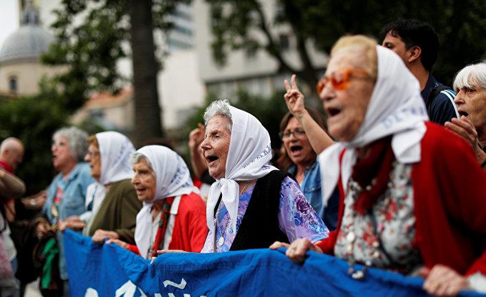 Акция протеста в преддверии саммита G20 в Буэнос-Айресе