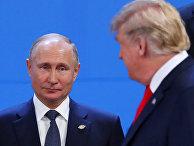 Президент США Дональд Трамп и президент России Владимир Путин