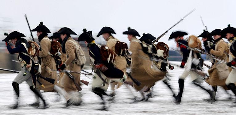 Участники реконструкции битвы под Аустерлицем