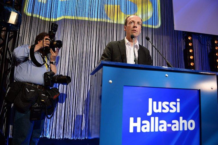 Финский политик Юсси Халла-ахо, председатель партии Истинные финны