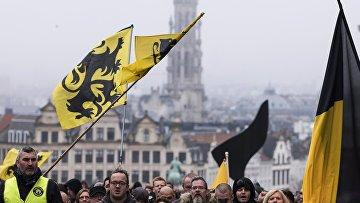 Массовые протесты в Брюсселе против миграционного пакта ООН