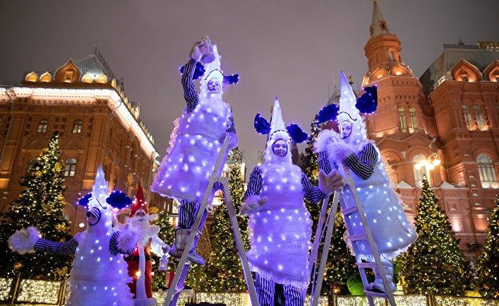 Украшение Москвы к Новому году