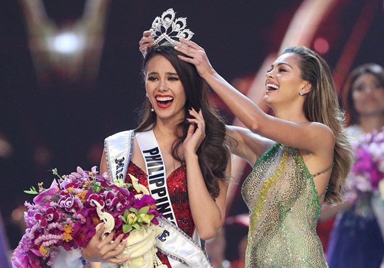 «Мисс Филиппины» Катриона Грей, завоевавшая титул «Мисс Вселенная» в Бангкоке
