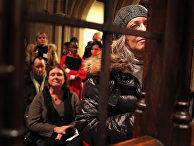 Рождество в церкви в Нью-Йорке, США