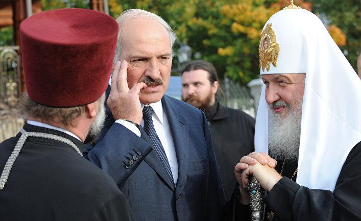 Патриарх Кирилл и президент Белоруссии А.Лукашенко в Минске