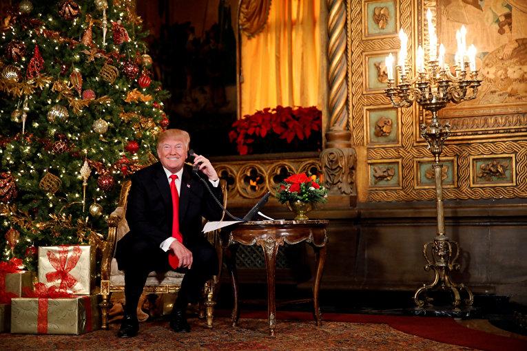 Трамп принимает звонки от детей в Белом доме