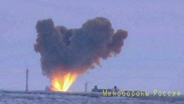 """Запуск ракеты комплекса """"Авангард"""" с гиперзвуковым боевым блоком"""