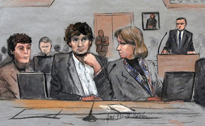 Суд над Джохаром Царнаевым, обвиняемым в совершении теракта во время Бостонского марафона