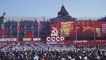 Первомайский парад физкультурников на Красной площади