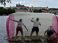Туристы в Праге, Чехия
