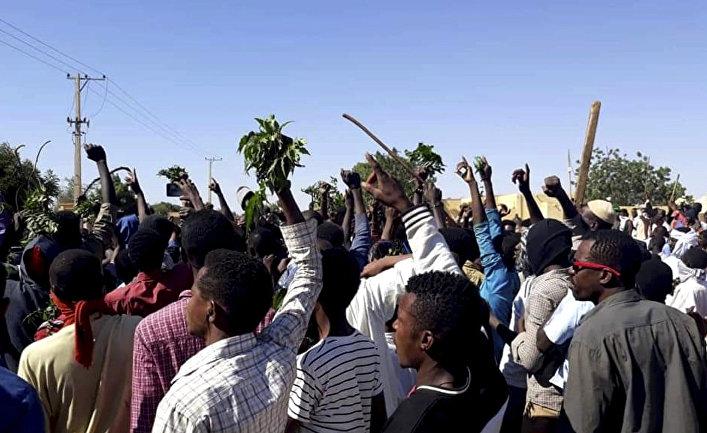 Участники акции протеста в провинции Кордофан, Судан