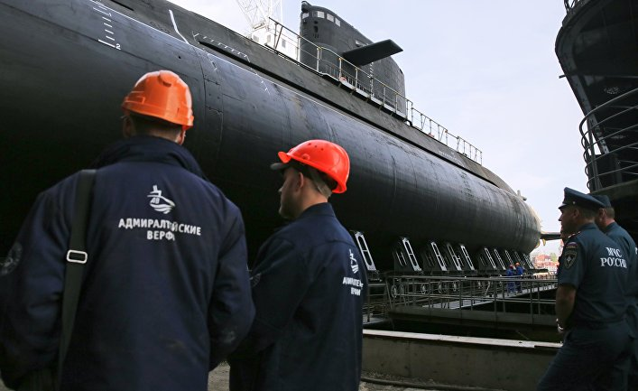 "Спуск на воду подводной лодки ""Кронштадт"""