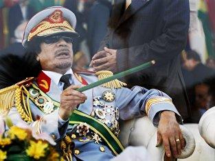 Ливийский лидер Моаммар Каддафи