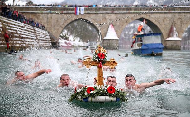Крещенские купания в Вышеграде