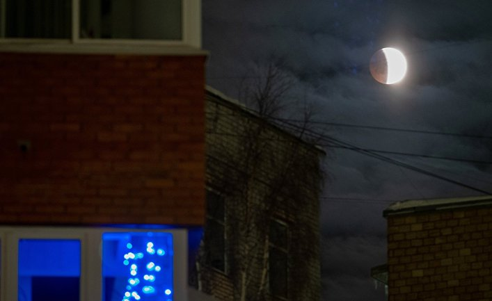 Лунное затмение в Карелии