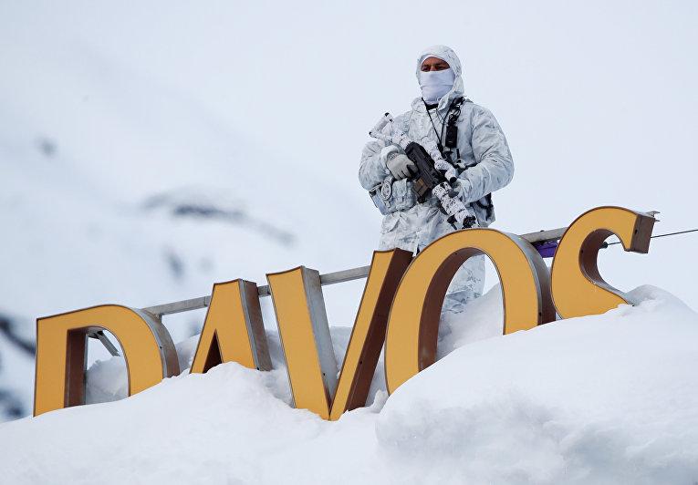 Снайперы на позиции во время Всемирного экономического форума