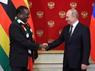 Президент РФ В. Путин встретился с президентом Зимбабве Э. Мнангагвой