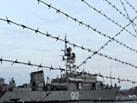 Корабли российского флота в порту Севастополя