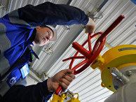 Церемония пуска газа по случаю завершения строительства газопровода
