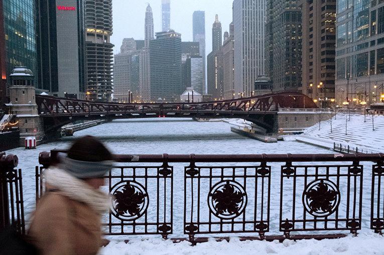 Прохожий в Чикаго