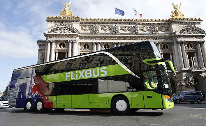 Автобус FlixBus в Париже, Франция