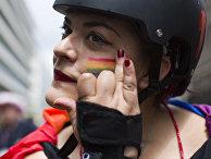 Участник гей-парада в Лондоне, Великобритания