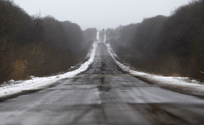 Дорога, ведущая из Артемовска в Дебальцево