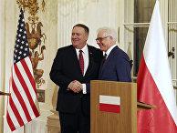 Министр иностранных дел Польши Яцек Чапутович и государственный секретарь США Майк Помпео