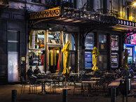 Столики кафе на улице Брюсселя