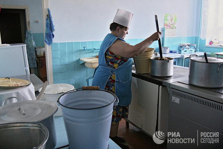 Питание детей в детском саду села Екатерининское Омской области