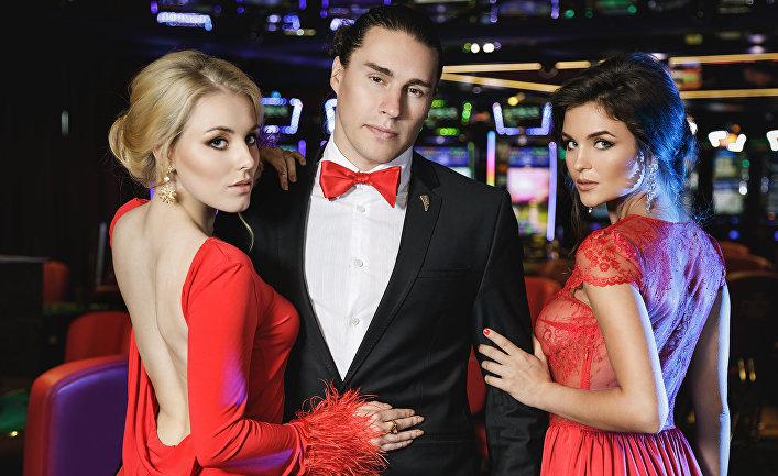Посетители казино