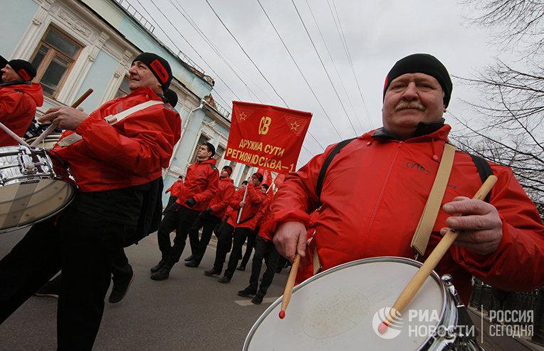 """Шествие движения """"Суть времени"""" в Москве"""