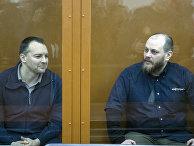 Сергей Михайлов и Руслан Стоянов на слушаниях в суде в Москве