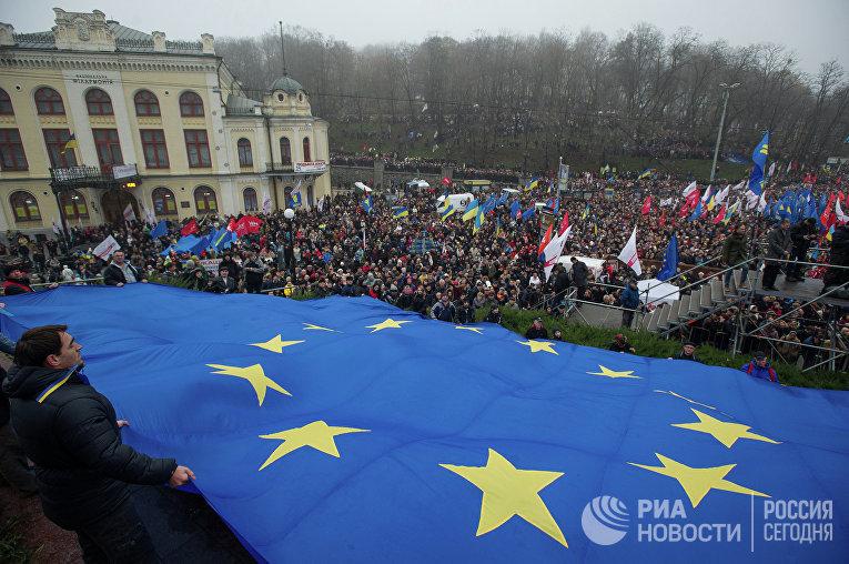 """Митинг """"За европейскую Украину"""" в Киеве"""