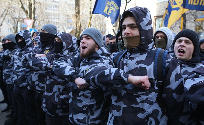 Акции в Киеве против коррупции в оборонной промышленности