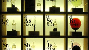 Фрагмент периодической системы химических элементов - таблицы Менделеева