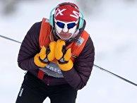 Юстина Ковальчик (Польша) на тренировке перед индивидуальной гонкой в соревнованиях по лыжным гонкам на Х этапе Кубка мира в Рыбинске