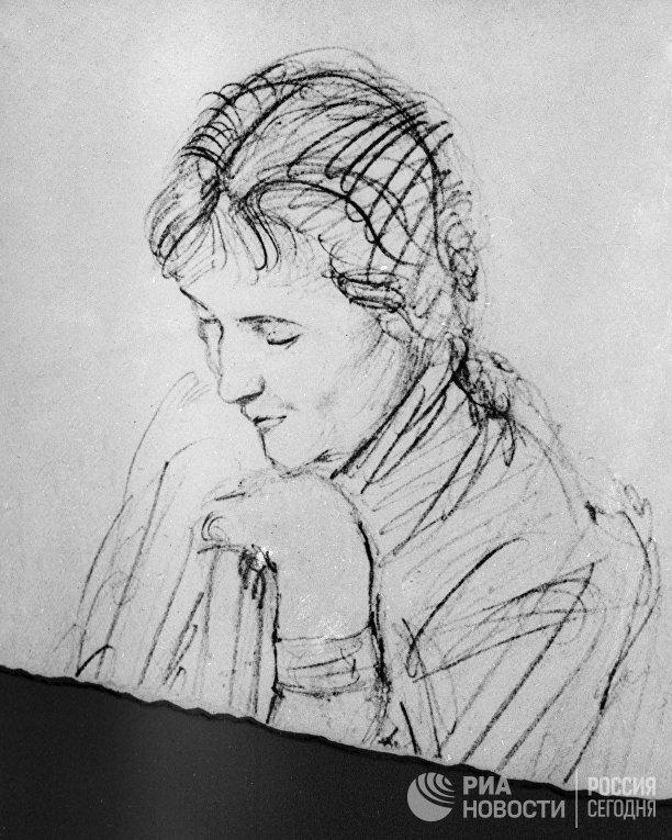 Репродукция портрета русской поэтессы Анны Ахматовой