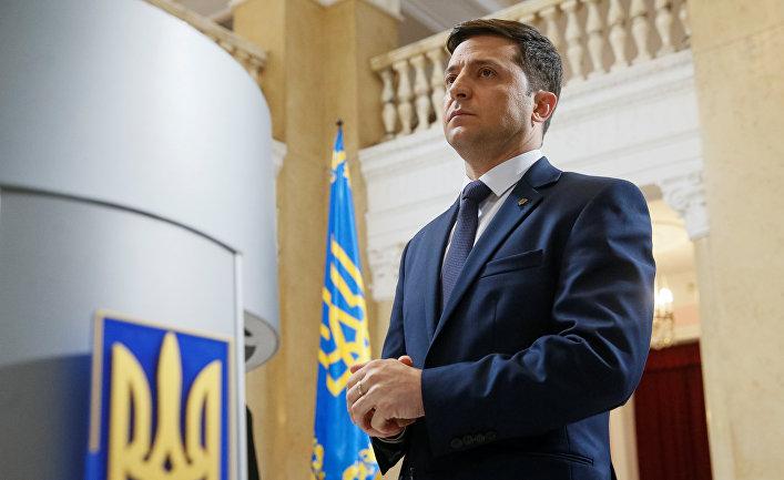 Украинский актер и кандидат на предстоящих президентских выборах Владимир Зеленский